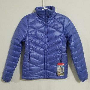North Face Womens XS Purple Quilted Down Jacket